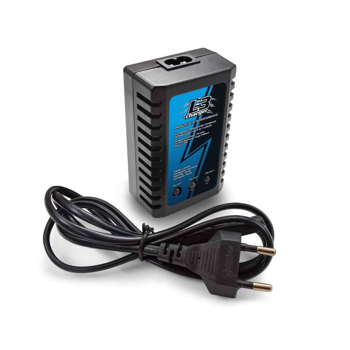Carregador Balanceador para Baterias Leão Modelismo Li-Po 2 ou 3 Células 110/220V