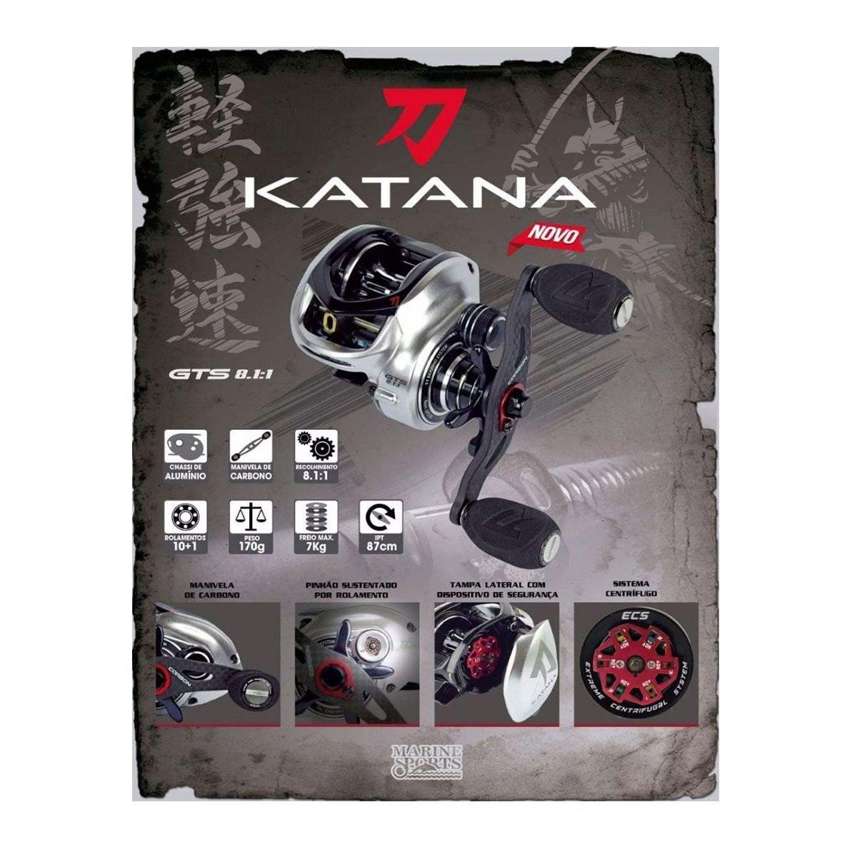 Carretilha Marine Sports Katana GTS 8,1:1 11 Rolamentos
