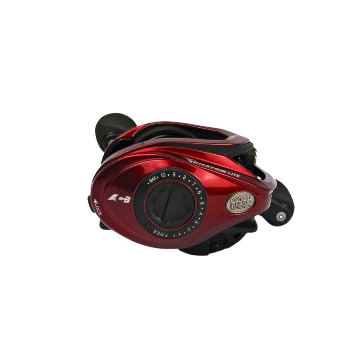 Carretilha Marine Sports Venator Lite Vermelha 8,3:1 11 Rolamentos