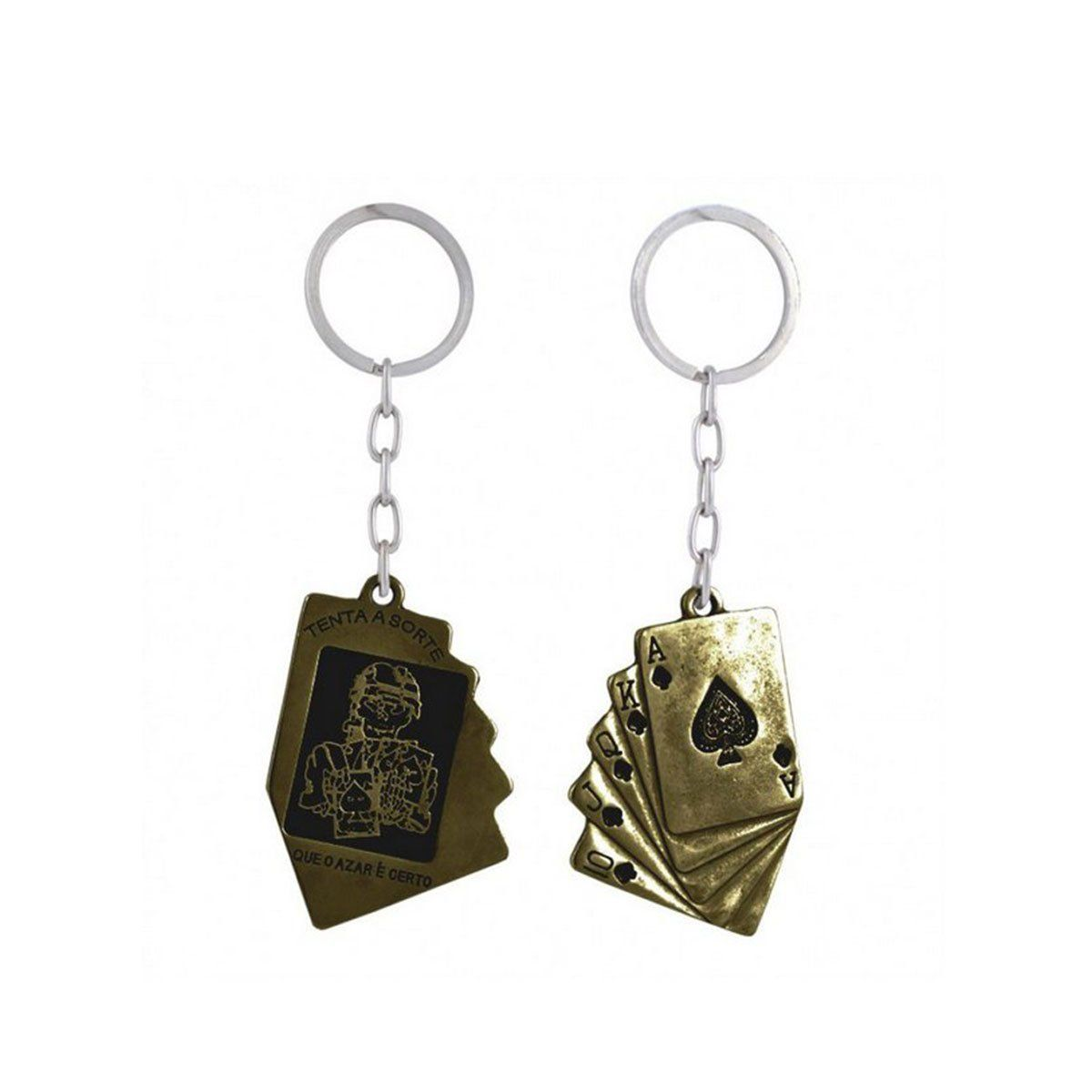 Chaveiro Metal Tenta a Sorte 19 - Bronze