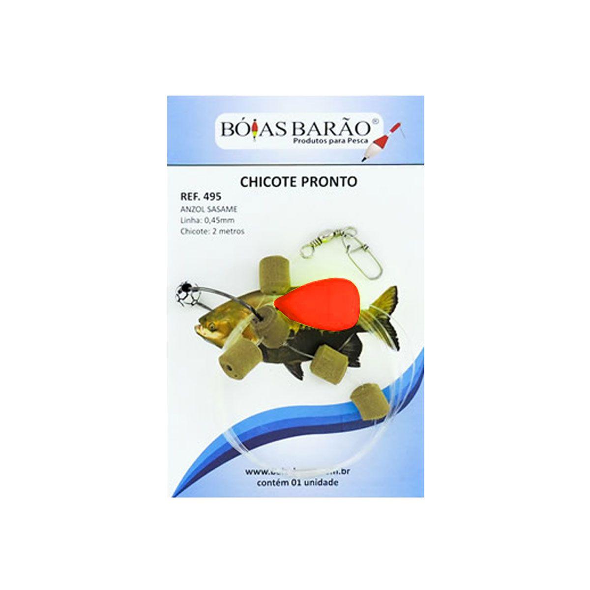 Chicote Pronto para Pesca de Superfície Boias Barão Vermelho