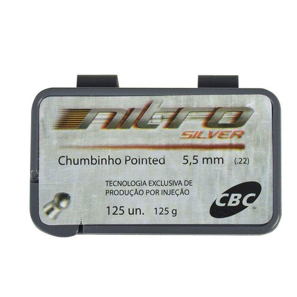 Chumbinho CBC 5,5 MM Pointed Nitro Silver