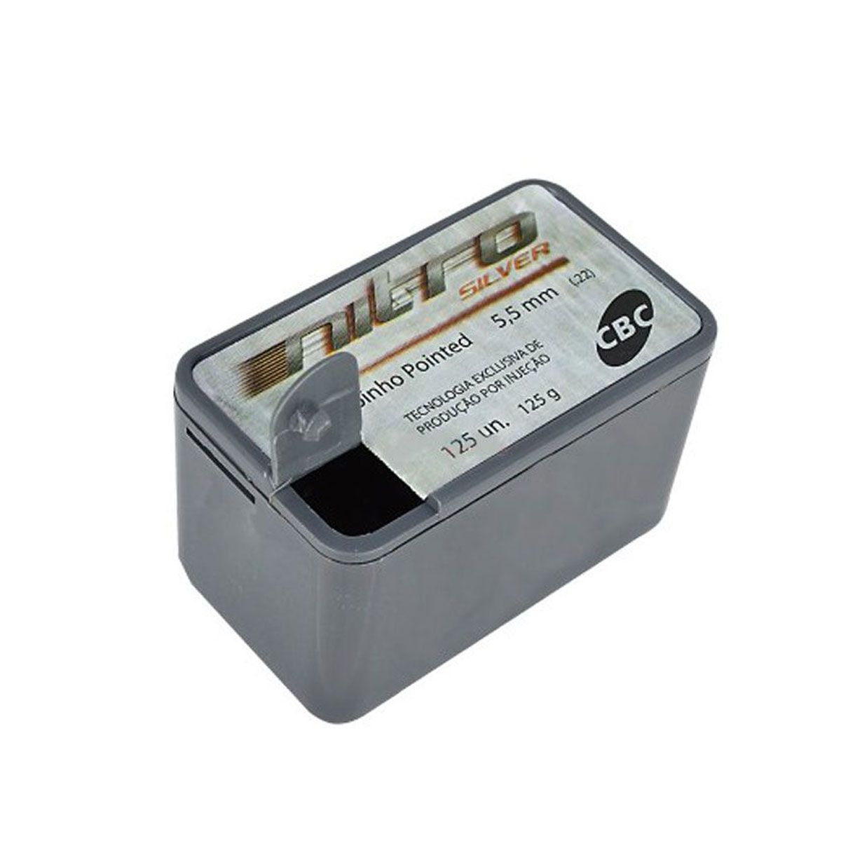 Chumbinho CBC Pointed Nitro Silver 5,5mm 125 unidades