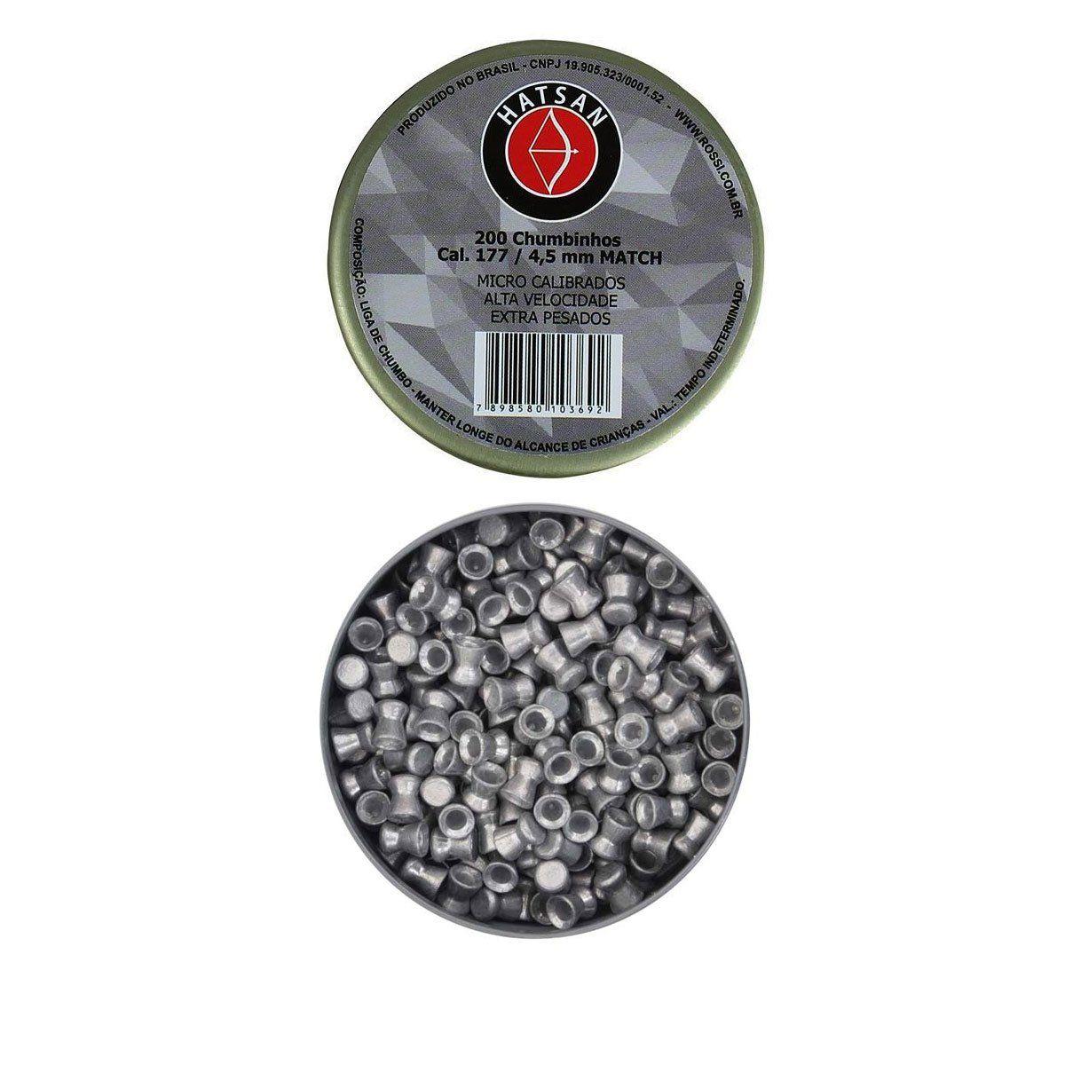 Chumbinho Hatsan Match 4,5mm 200 unidades