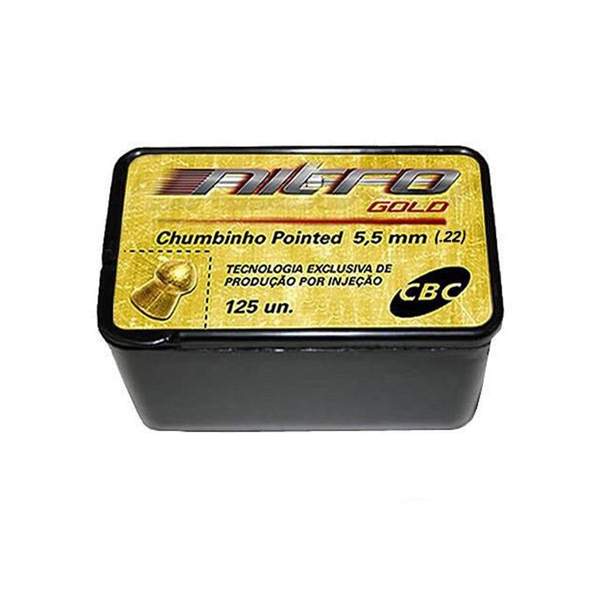 Chumbinho para Carabina Pointed Nitro Gold 5,5mm CBC 125un