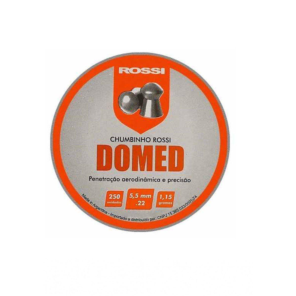 Chumbinho Rossi Domed 5,5 mm 250 unidades