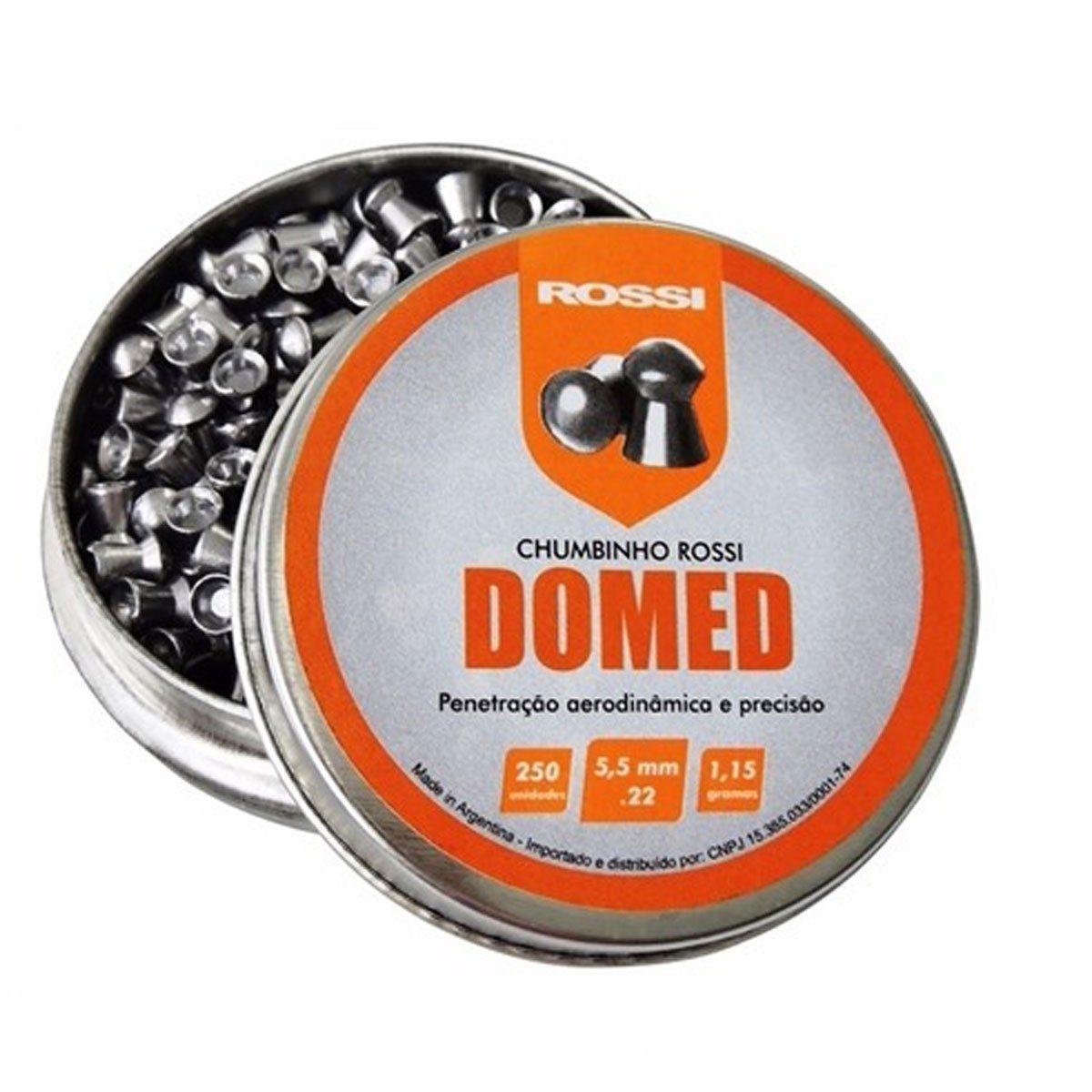 Chumbinho Rossi Domed 5,5mm 250 unidades