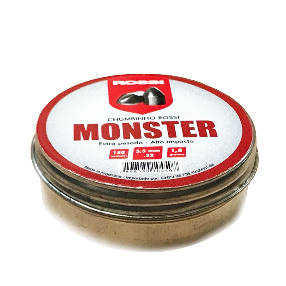 Chumbinho Rossi Monster 5,5mm 150 unidades