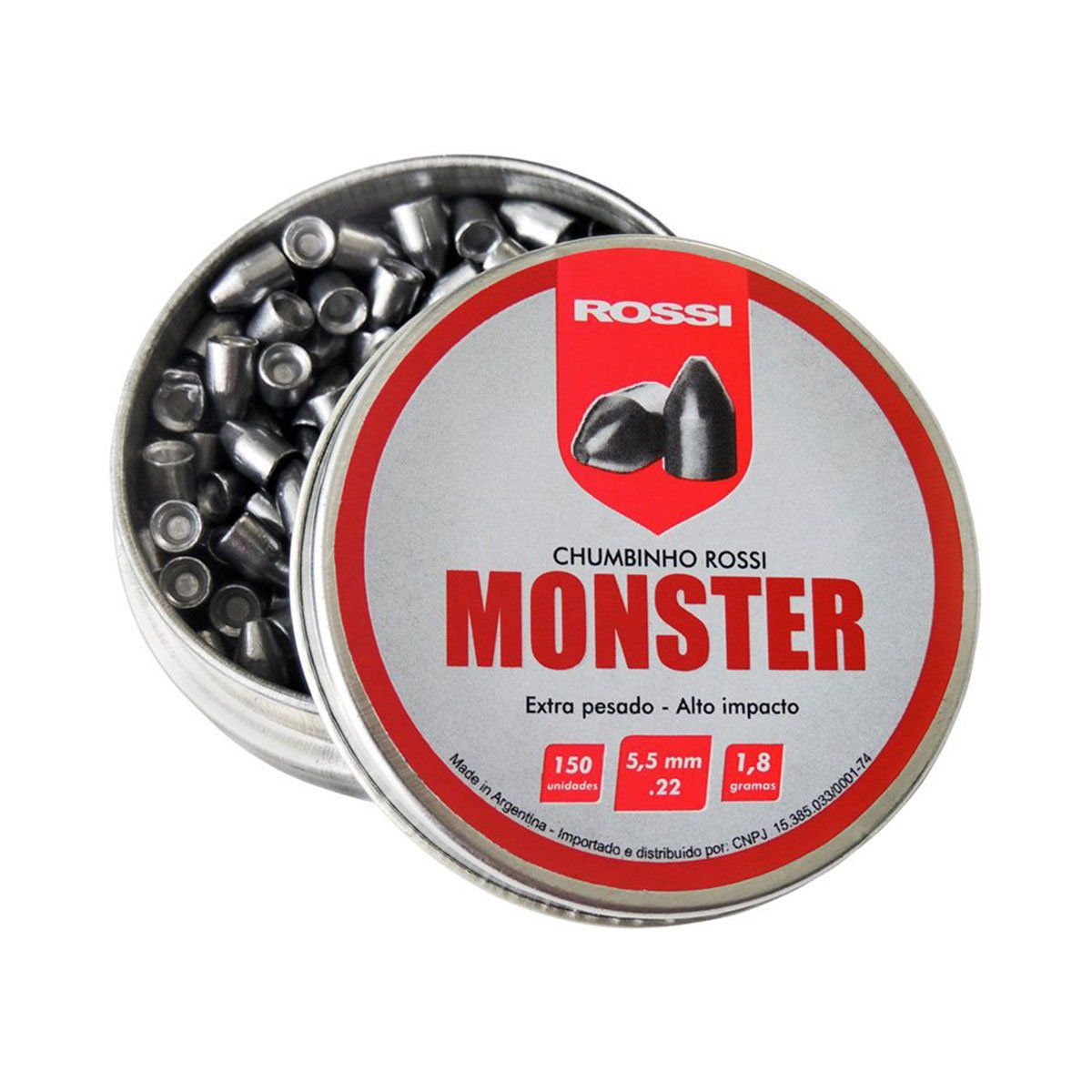 Chumbinho Rossi Monster 5,5MM
