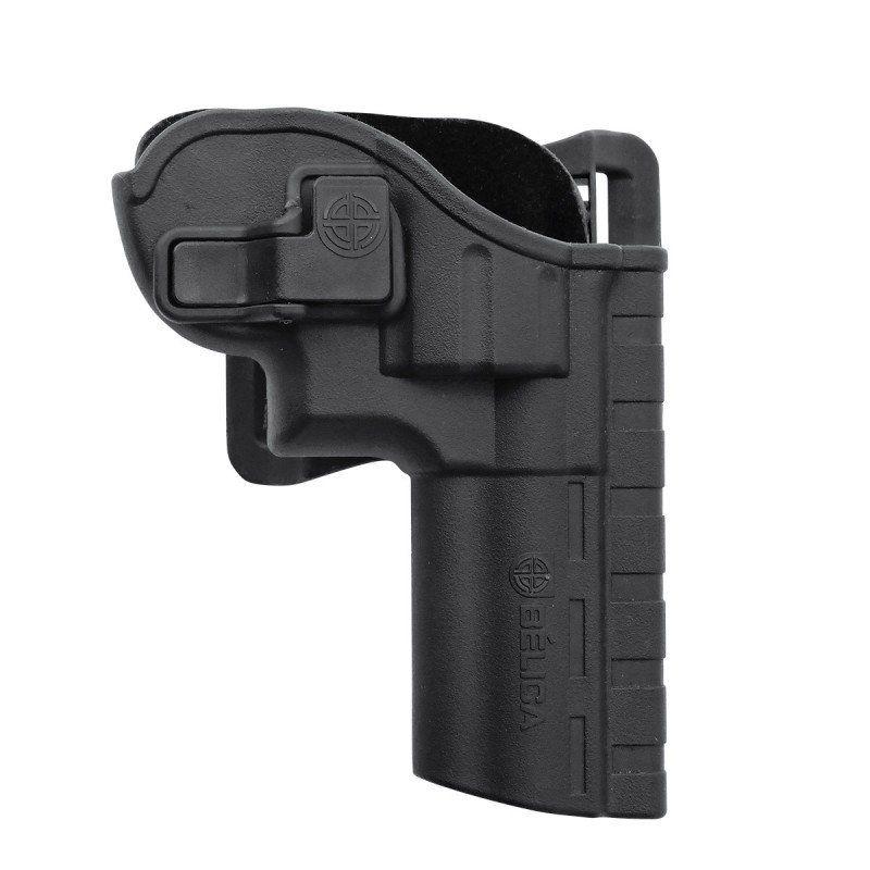 Coldre Belica P/ Revolver I de Cintura Polimero Preto Destro