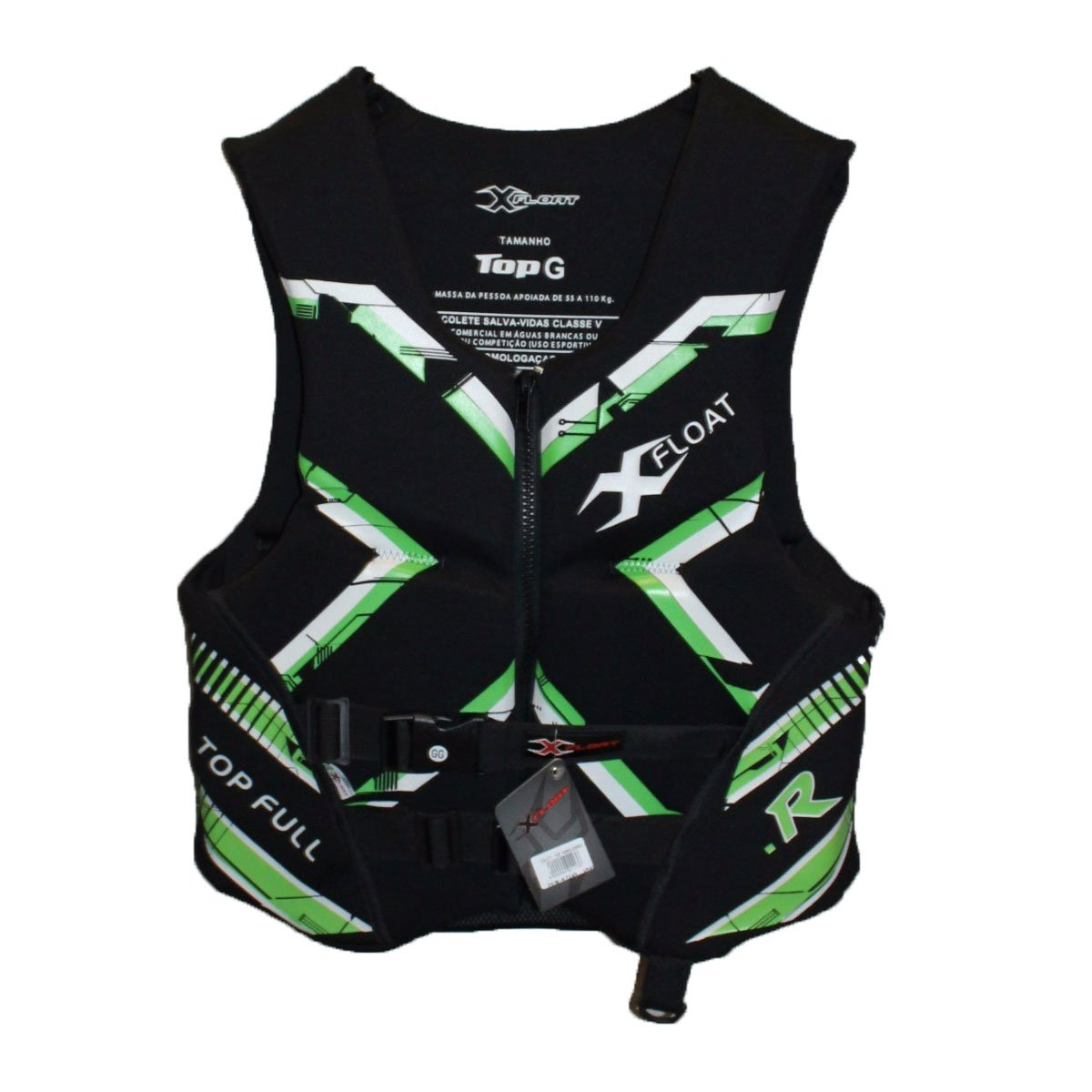 Colete Neoprene X-Float Top Full Homologado Verde
