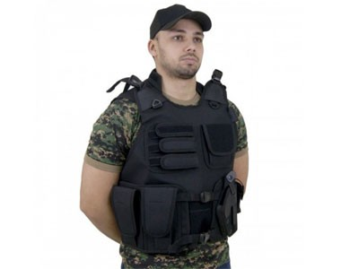 Colete Tatico Ripstop Swat Preta M