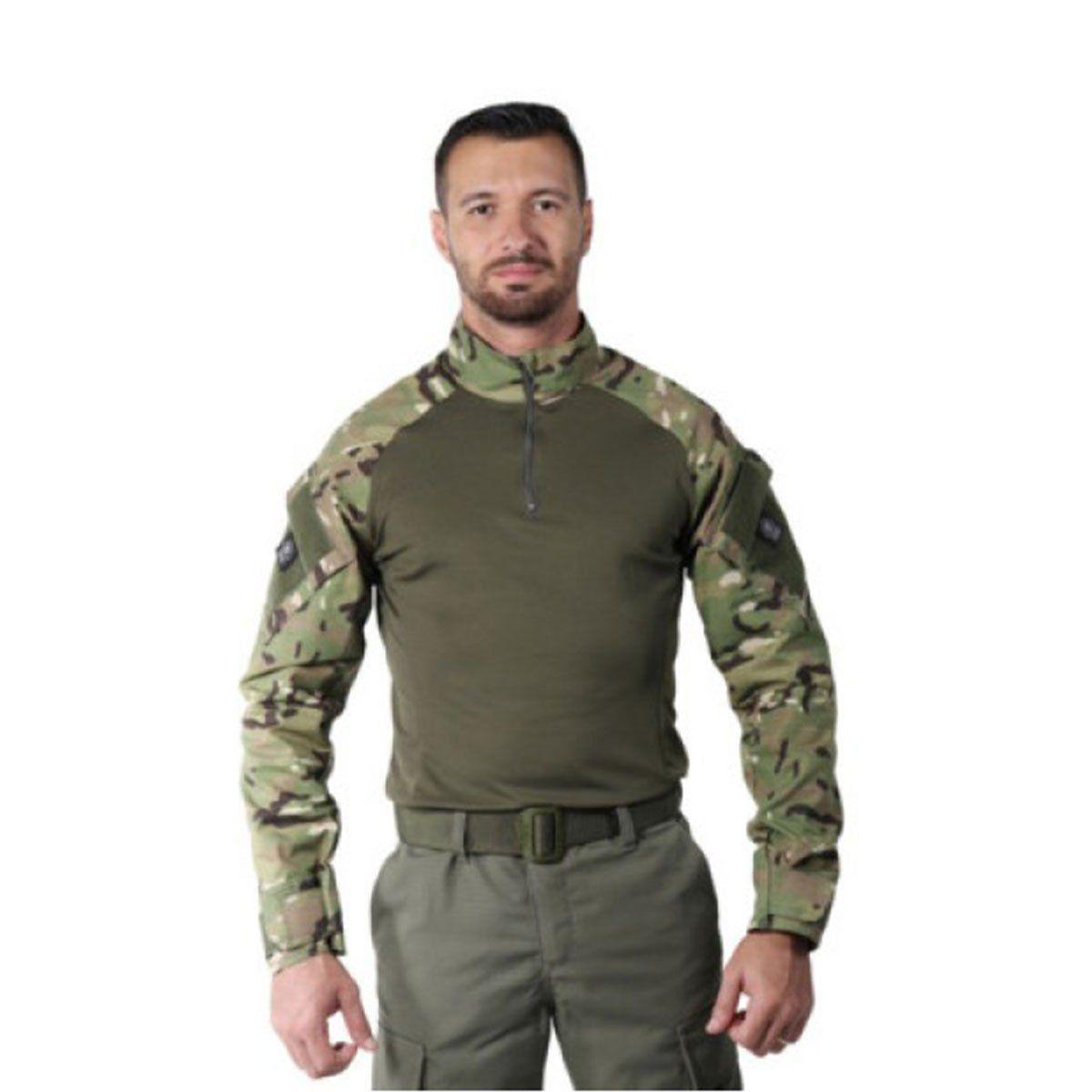 Camisa Masculina Combat Shirt Steel Multicam