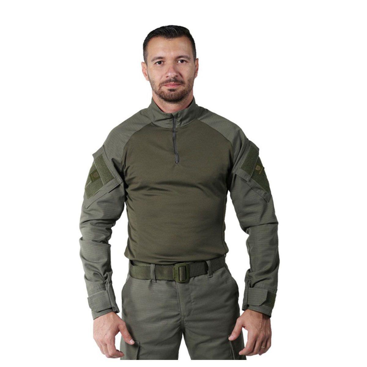 Camisa Masculina Combat Shirt Steel Verde