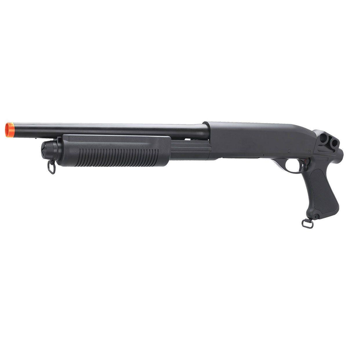 Combo Shotgun Airsoft Rossi Cyma M870 sem Coronha CM351 + BB King 0,12g