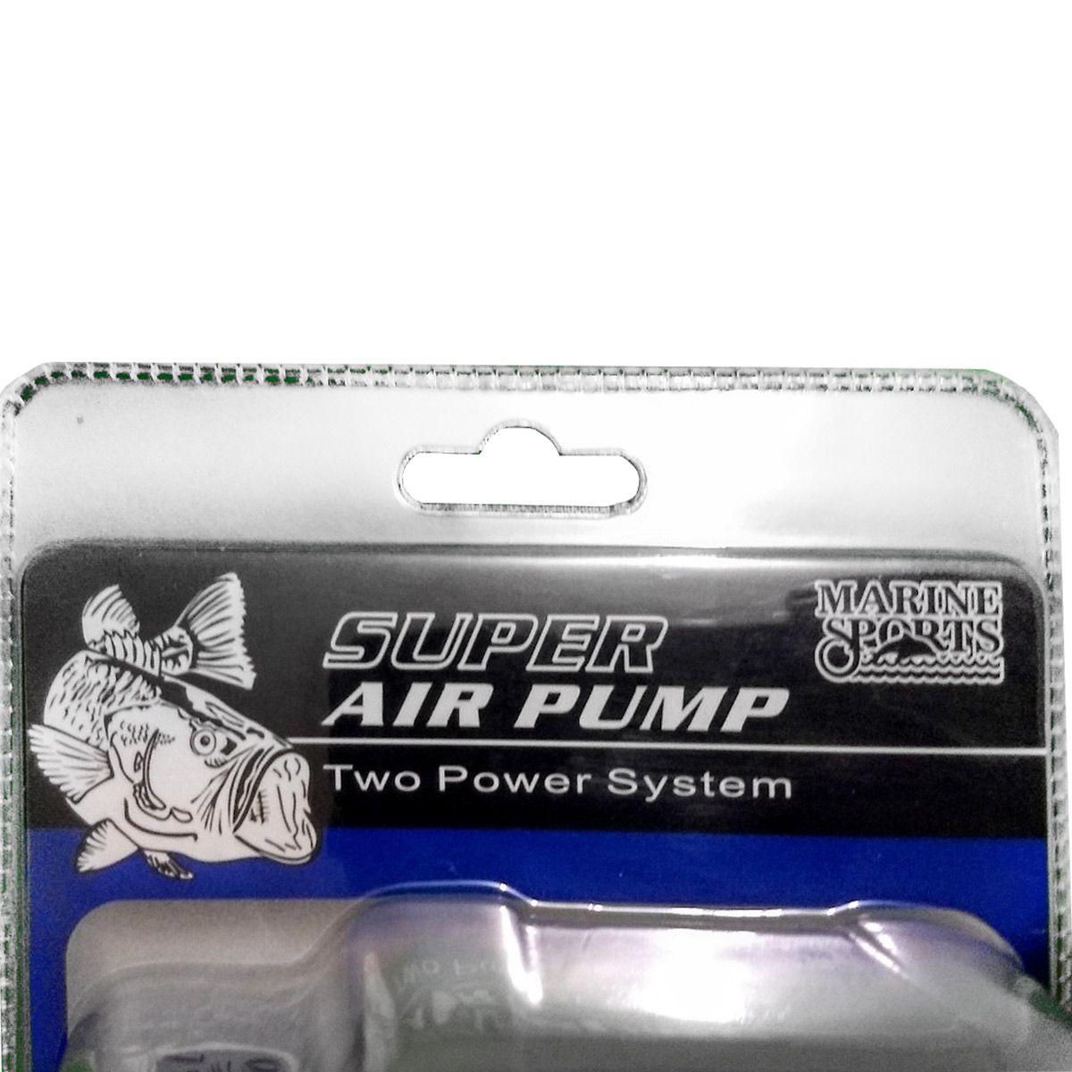 Compr/Aerador/Oxigen Marine Sport Super Air Pump 12V-Branco