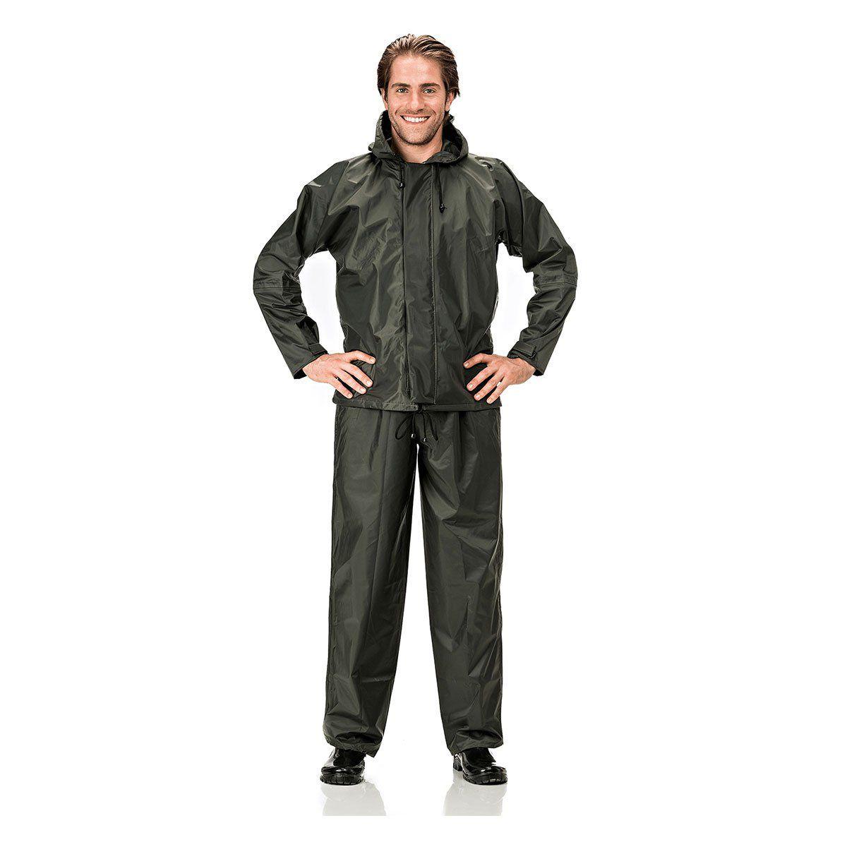 Conjunto Capa e calca para chuva impermeavel Pantaneiro ref: 238