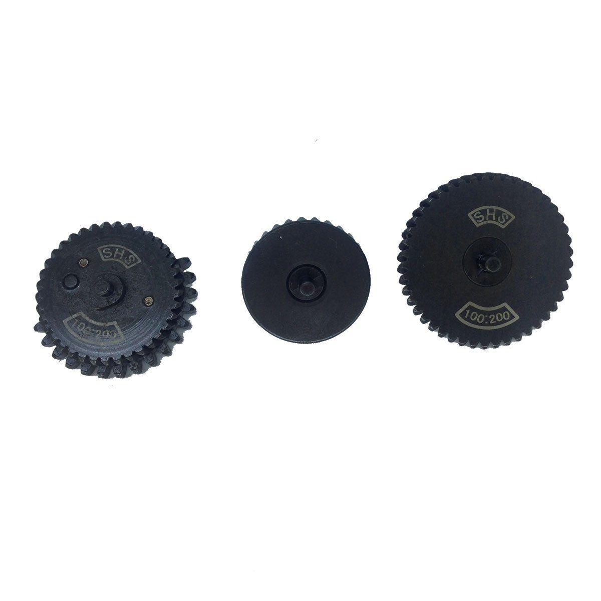 Conjunto de Engrenagem 100:200 Alto Torque Aço SHS