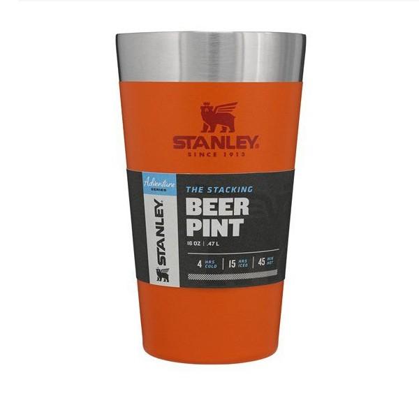 Copo Térmico para Cerveja Sem Tampa Stanley 473ml - Laranja