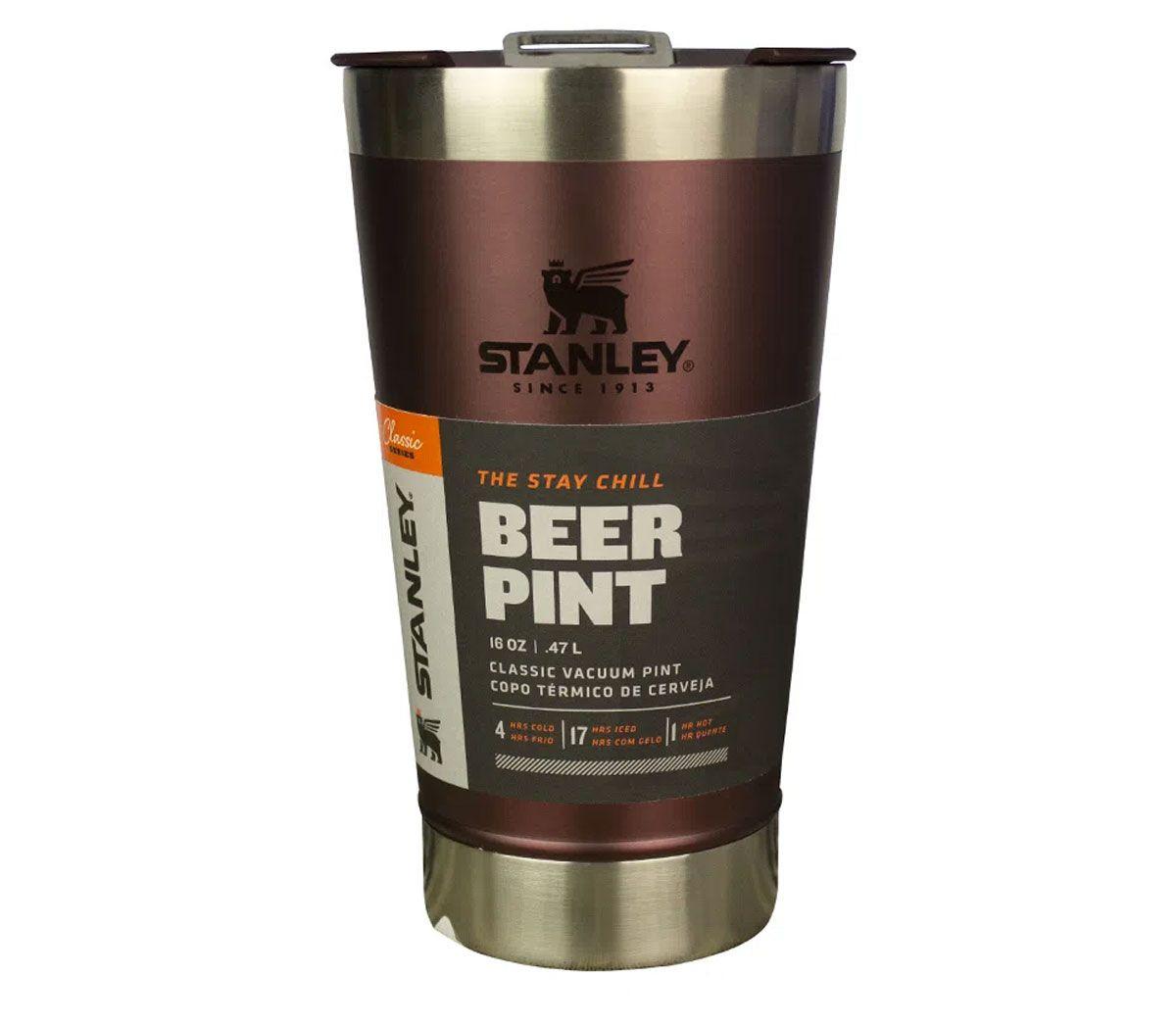 Copo de Cerveja Térmico Stanley com Tampa - Wine 473ml