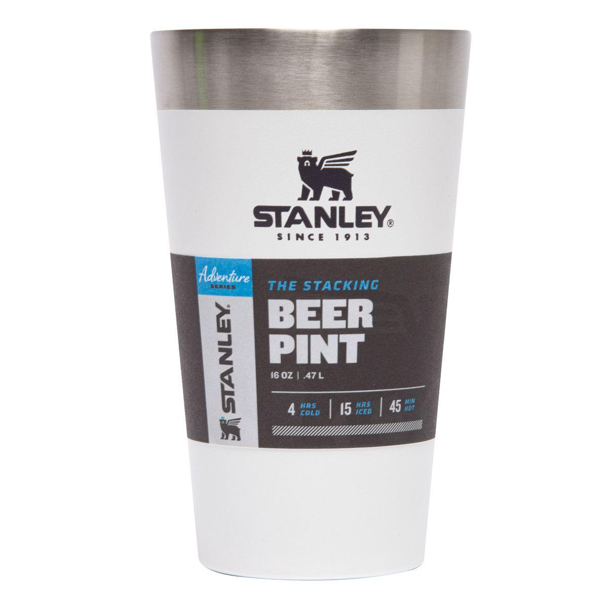 Copo Térmico para Cerveja Sem Tampa Stanley 473ml Polar Branco