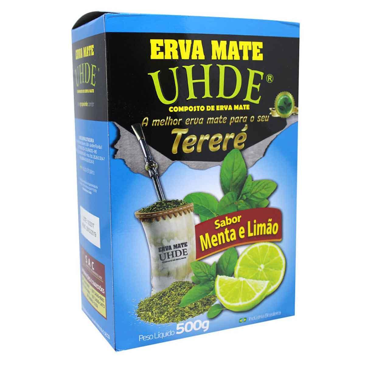 Erva Mate UHDE Menta Limão 500g