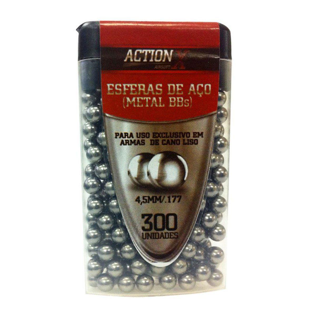 Esfera de Aco Ammo Actionx Cal 4,5MM EMB.300 UN.