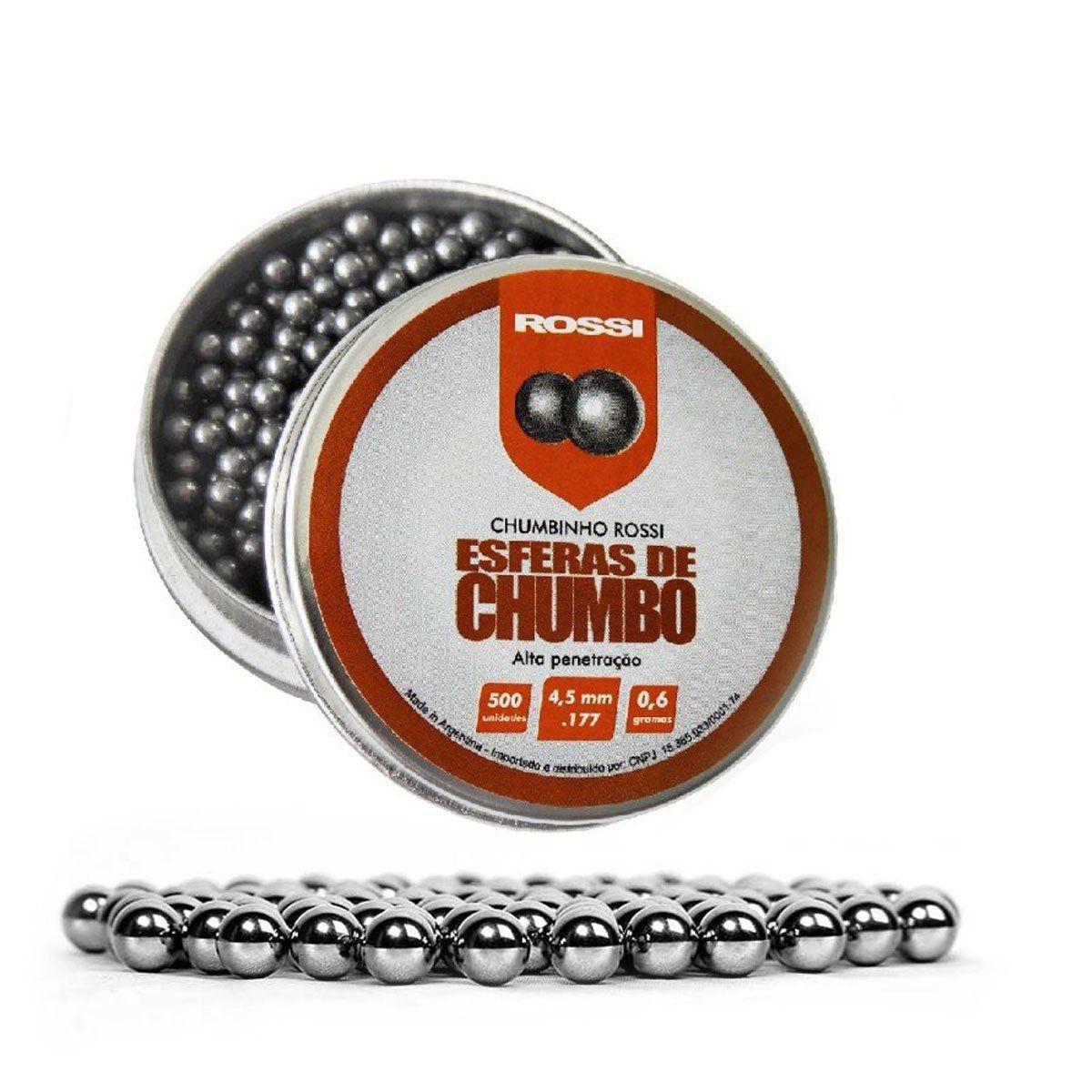 Esferas de Chumbo Rossi 4,5mm 500 unidades