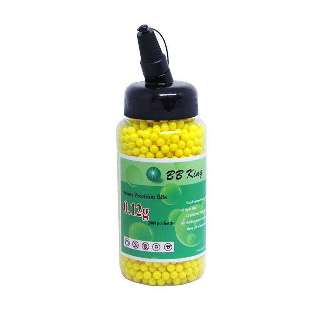 Esferas Plásticas BBs Airsoft BB King 0,12g Amarela 2000un