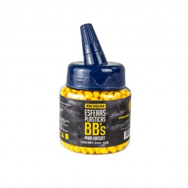 Esferas Plásticas BBs Amarelas Rossi para Airsoft 1000un - 6mm 0,12g