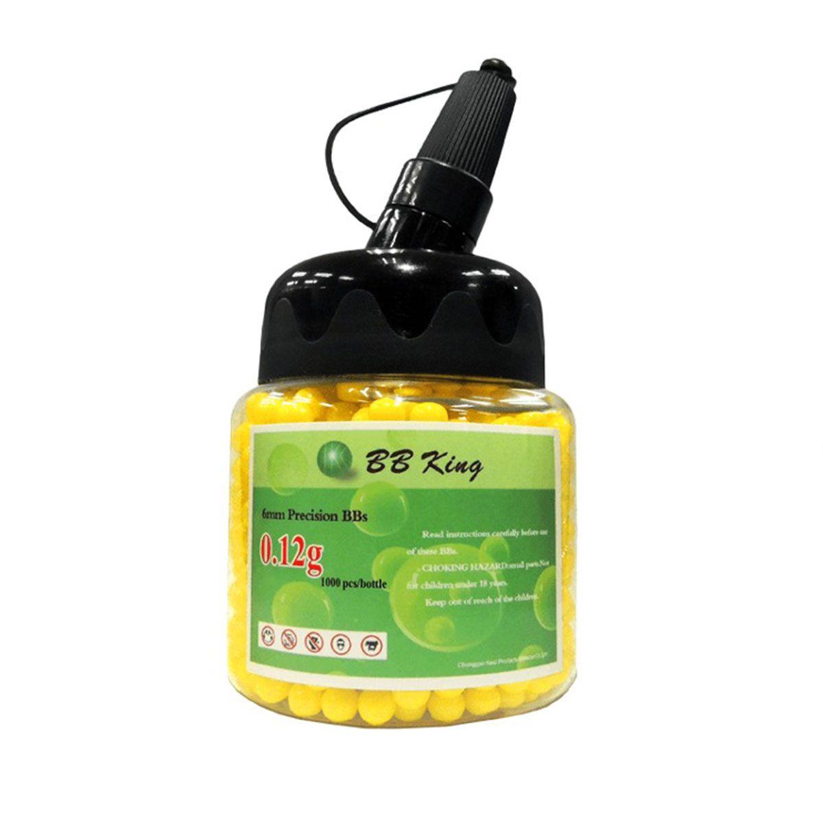 Esferas Plásticas BBs BB King Amarela 6mm 0,12g 1000un
