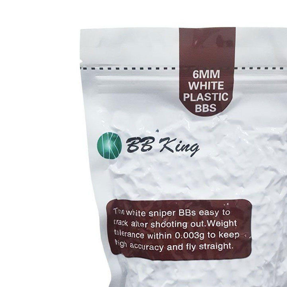Esferas Plásticas BBs BB King Calibre 6mm 0,36g 1000un