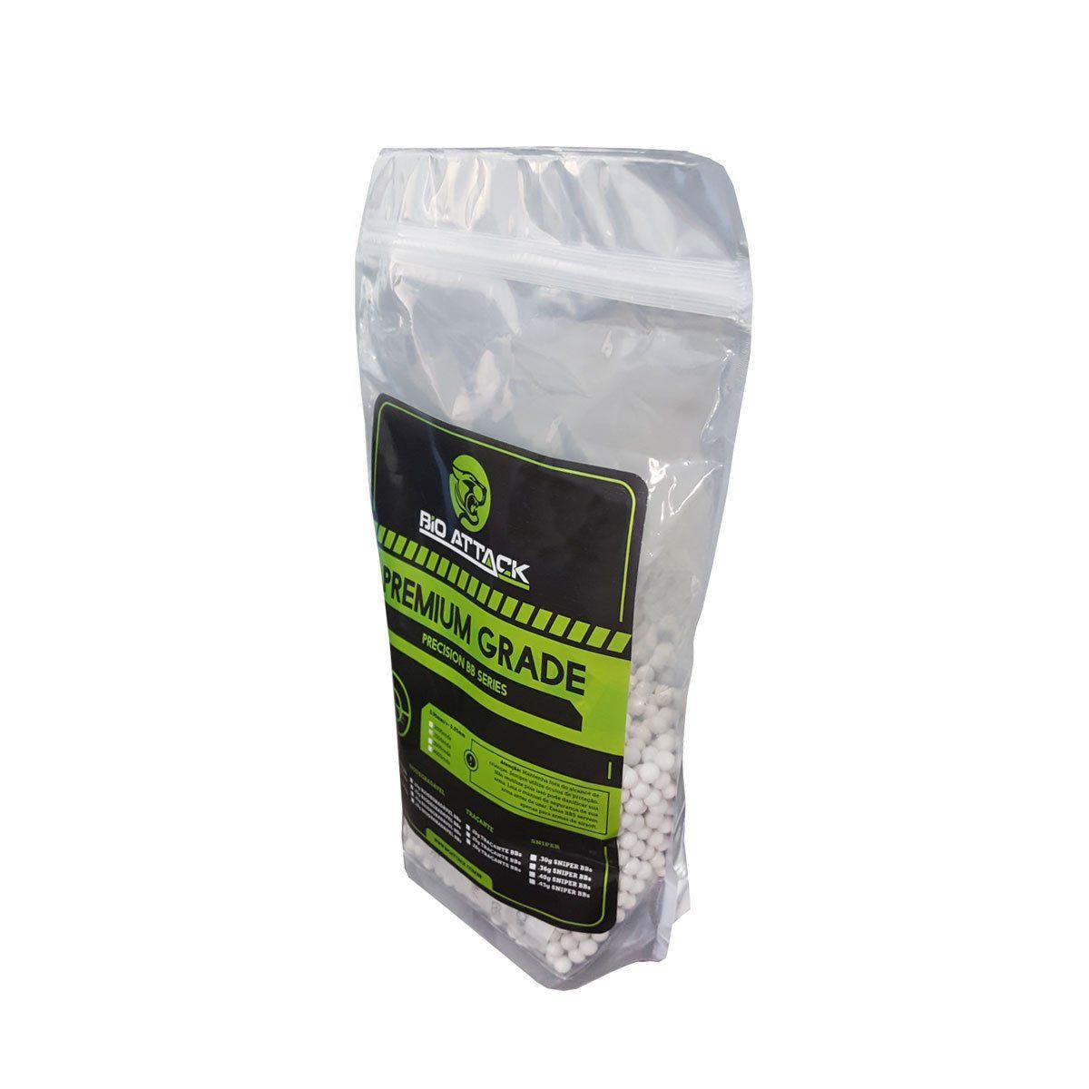 Esferas Plásticas BBs Bio Attack Premium 6 mm 0,20g 4000un