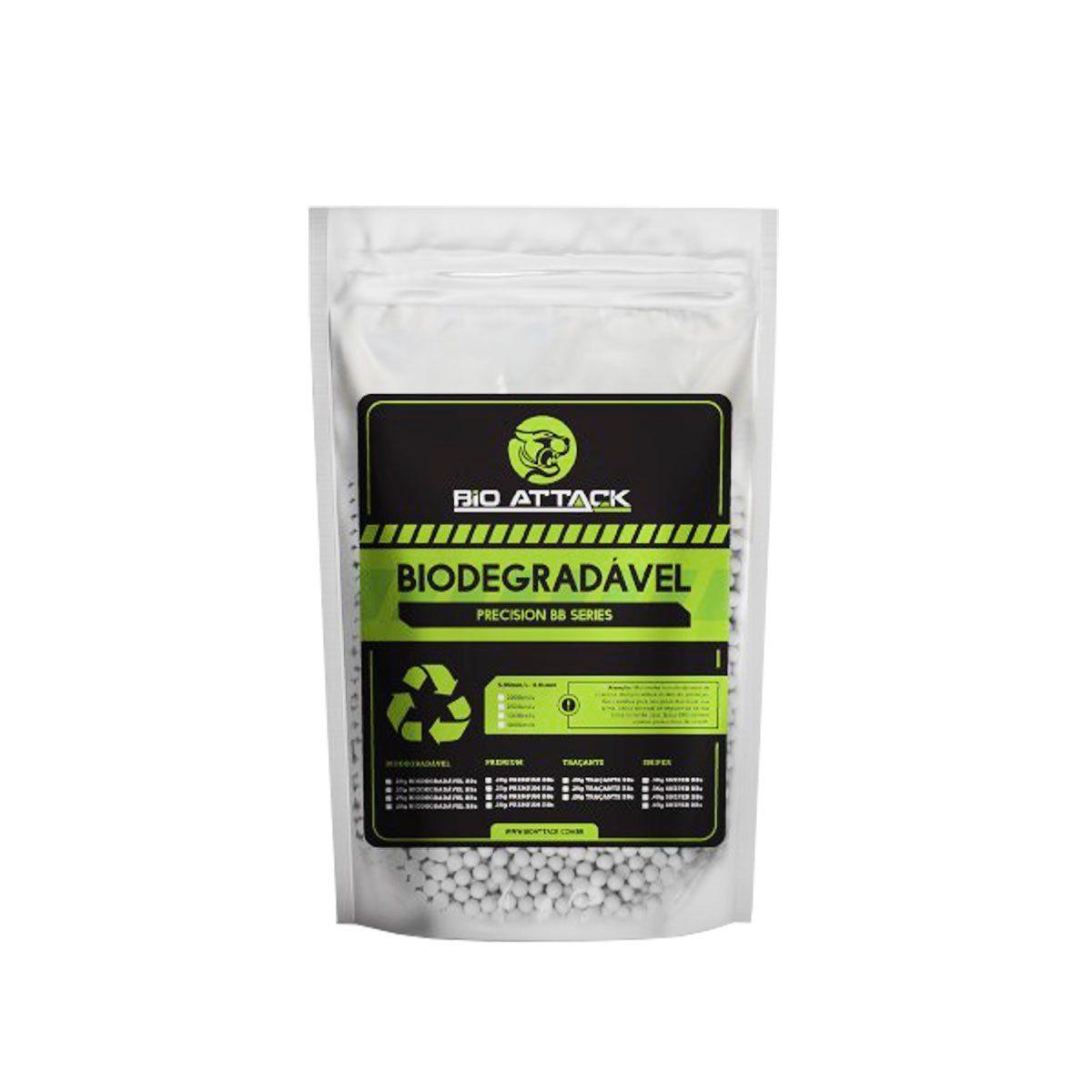 Esferas Plasticas BBs Bio Attack 0.25g Calibre 6mm