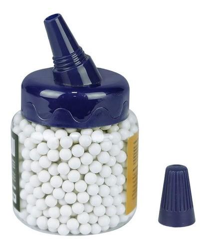 Esferas Plásticas BBs Brancas Rossi para Airsoft 1000un - 6mm 0,20g