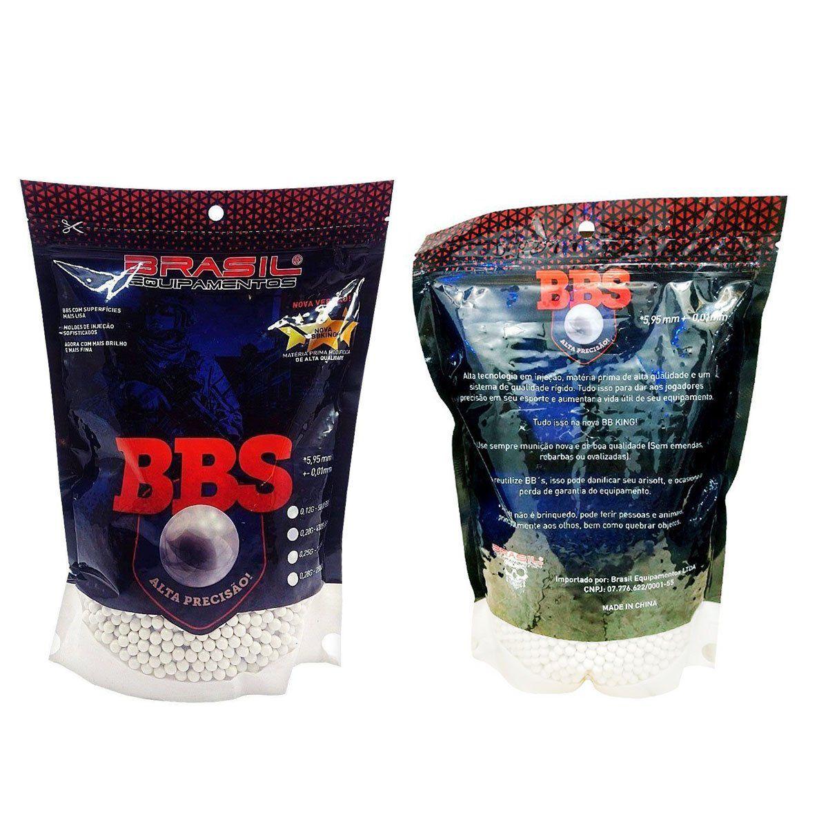 Esferas Plásticas BBs Brasil Equipamentos Calibre 6mm 0,25g 3000un
