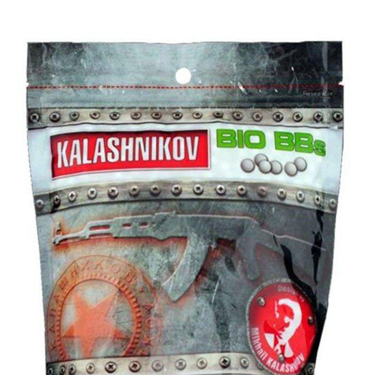 Esferas Plásticas BBs Kalashnikov Bio 6mm 0,25g 3200un