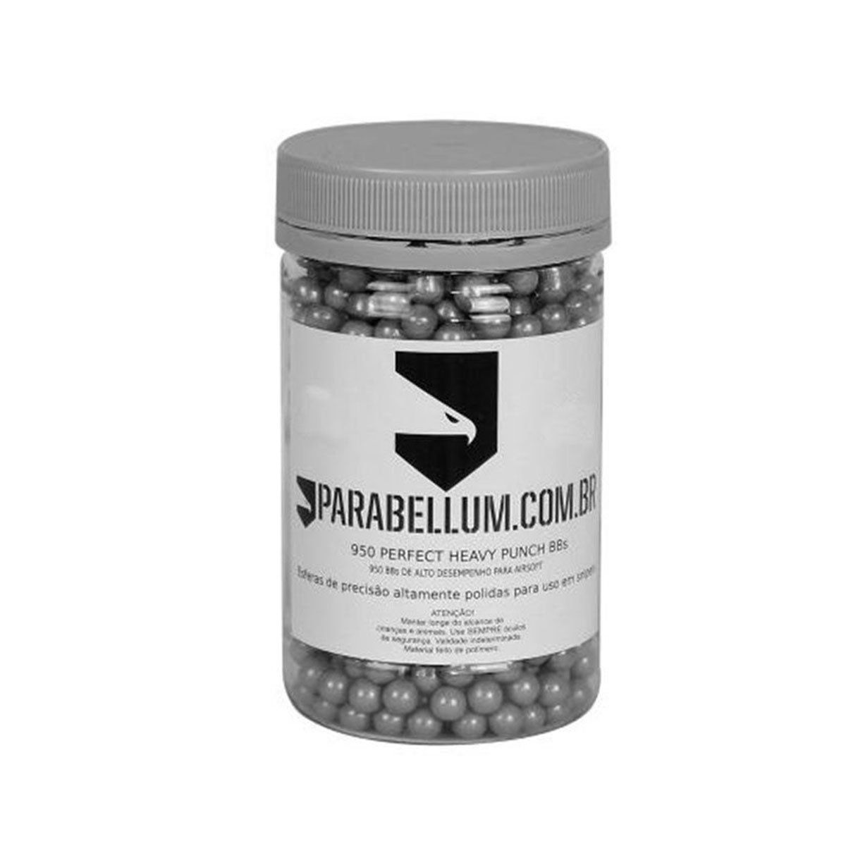 Esferas Plásticas BBs Parabellum Calibre 6mm 0,46g 950un