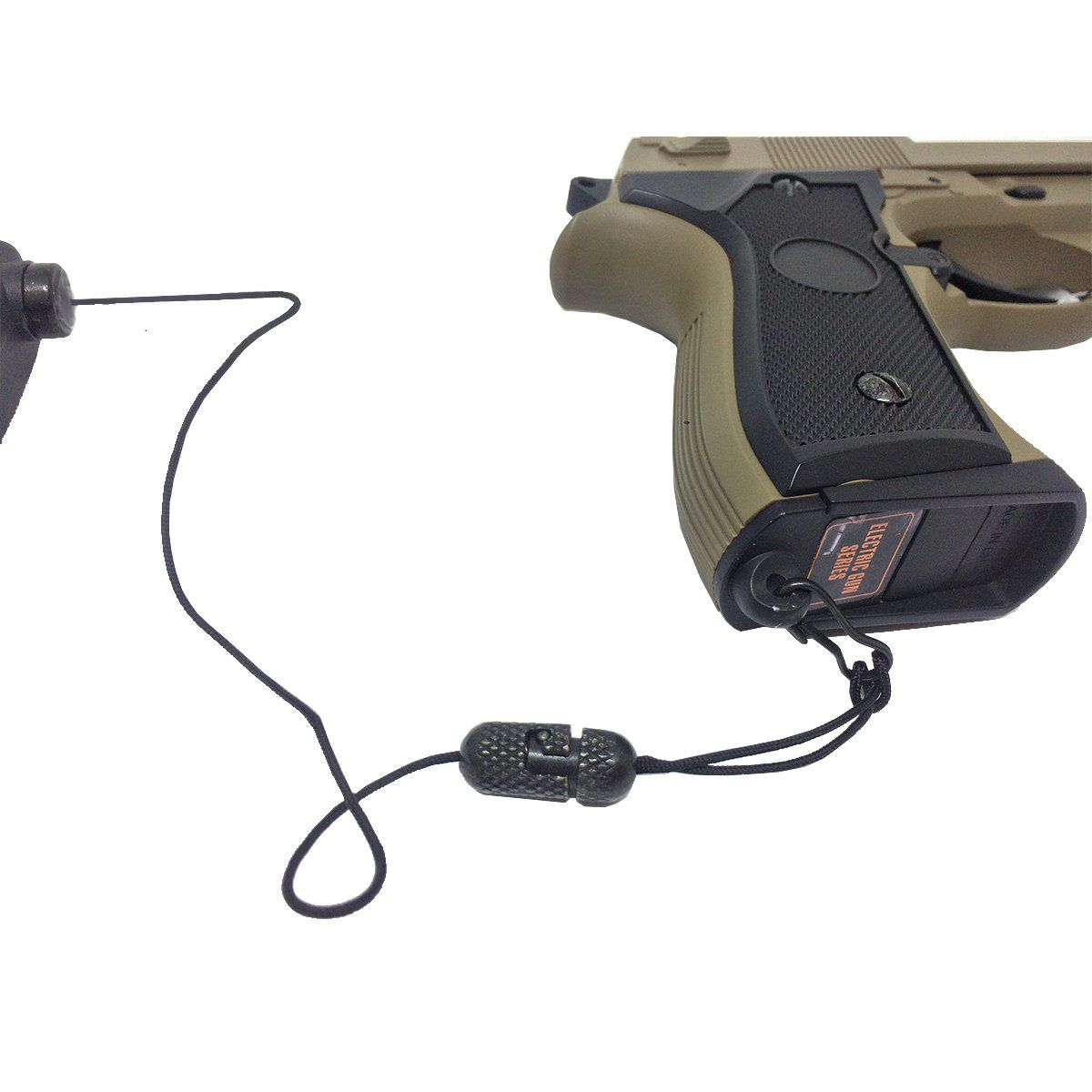 Fiel Retrátil Liso Para Pistola de Airsoft Bélica Preto
