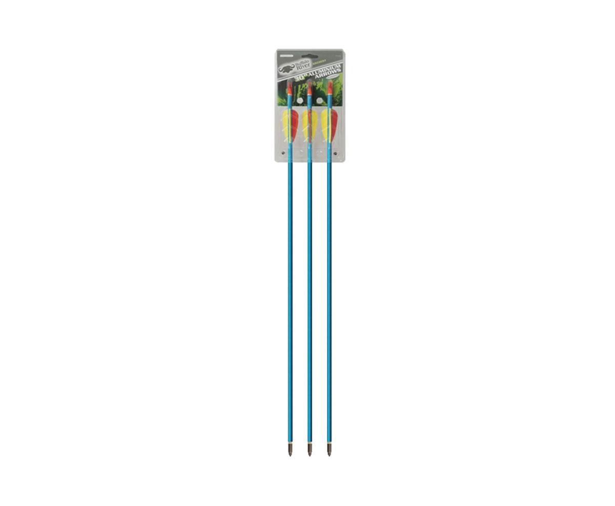 Flecha Alumínio 30P - Buffalo River Azul Ponteira Rosqueável com 3 unidades