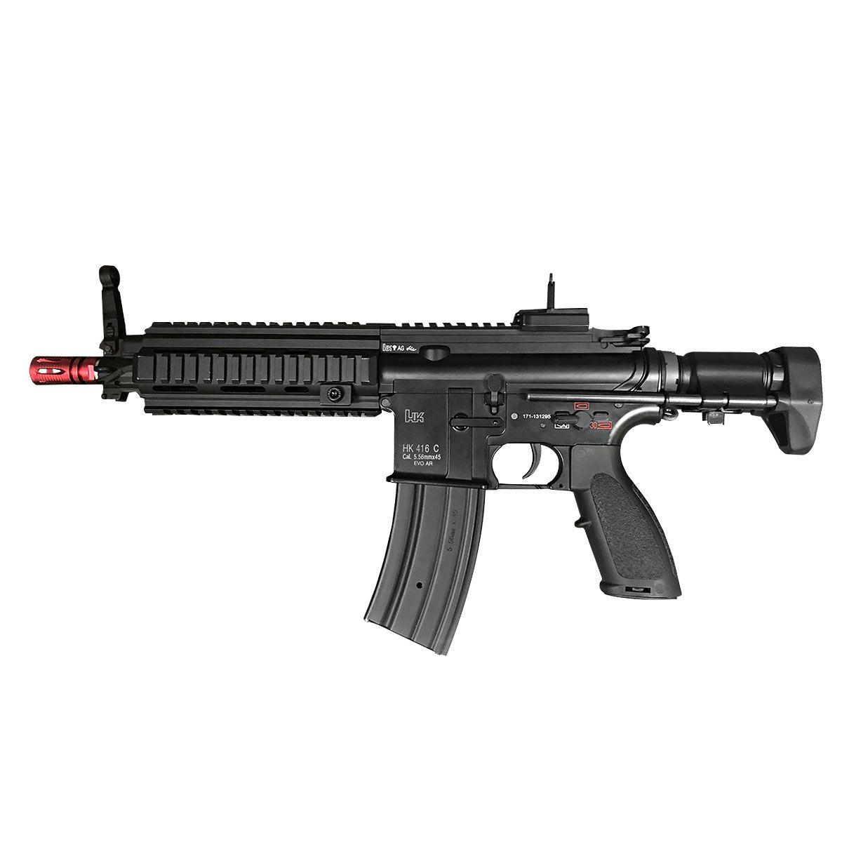 Fuzil de Airsoft Evo HK 416 C 101 Full Metal Elétrico 6mm