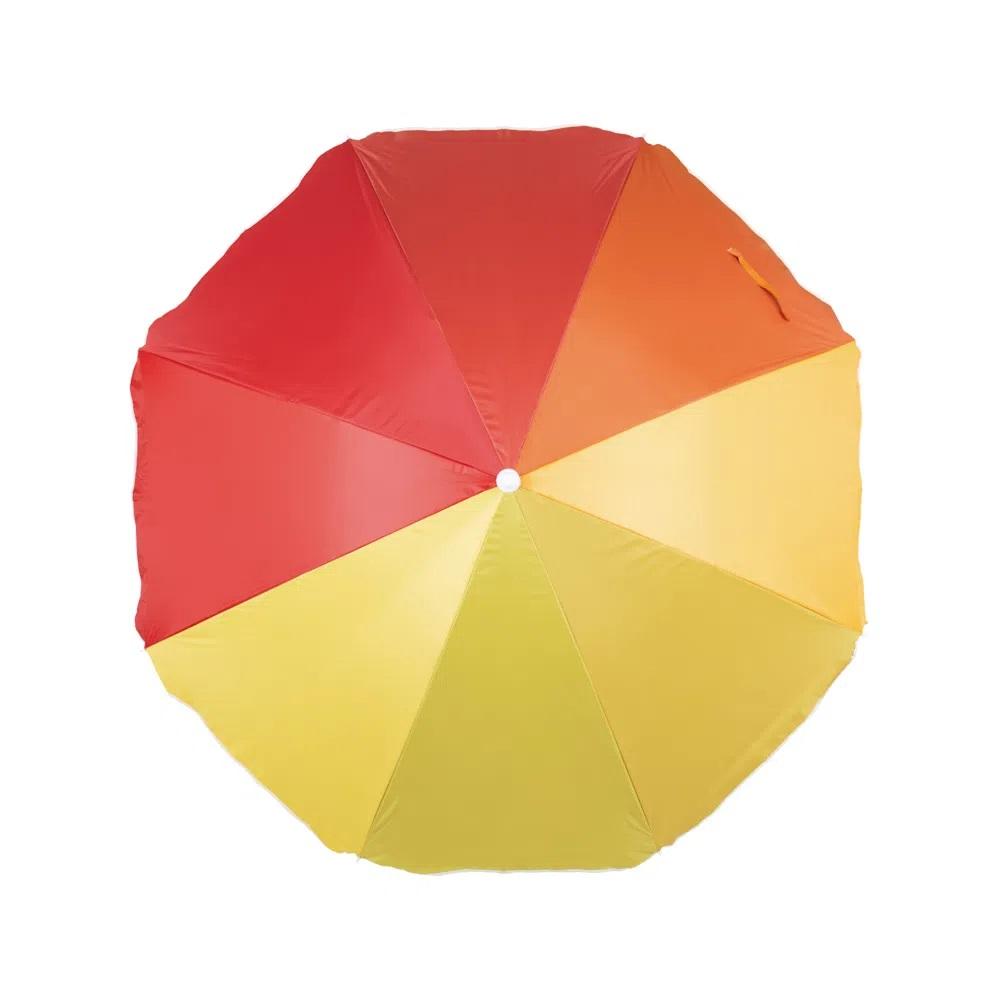 Guarda Sol Mor Fashion 1,80m - Cor Laranja / Vermelho / Amarelo