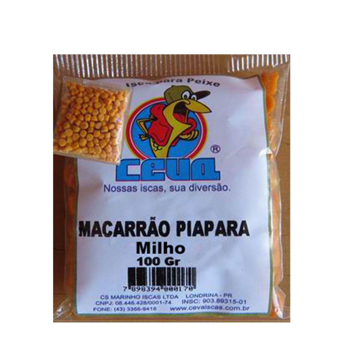 Isca Macarrao Ceva Piapara Milho Verde