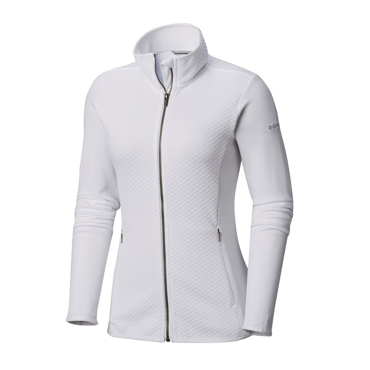 Jaqueta Columbia Roffe Ridge Full Zip Fleece White