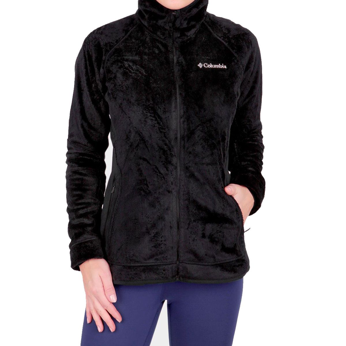 Jaqueta Columbia W Pearl Plush II Fleece Black