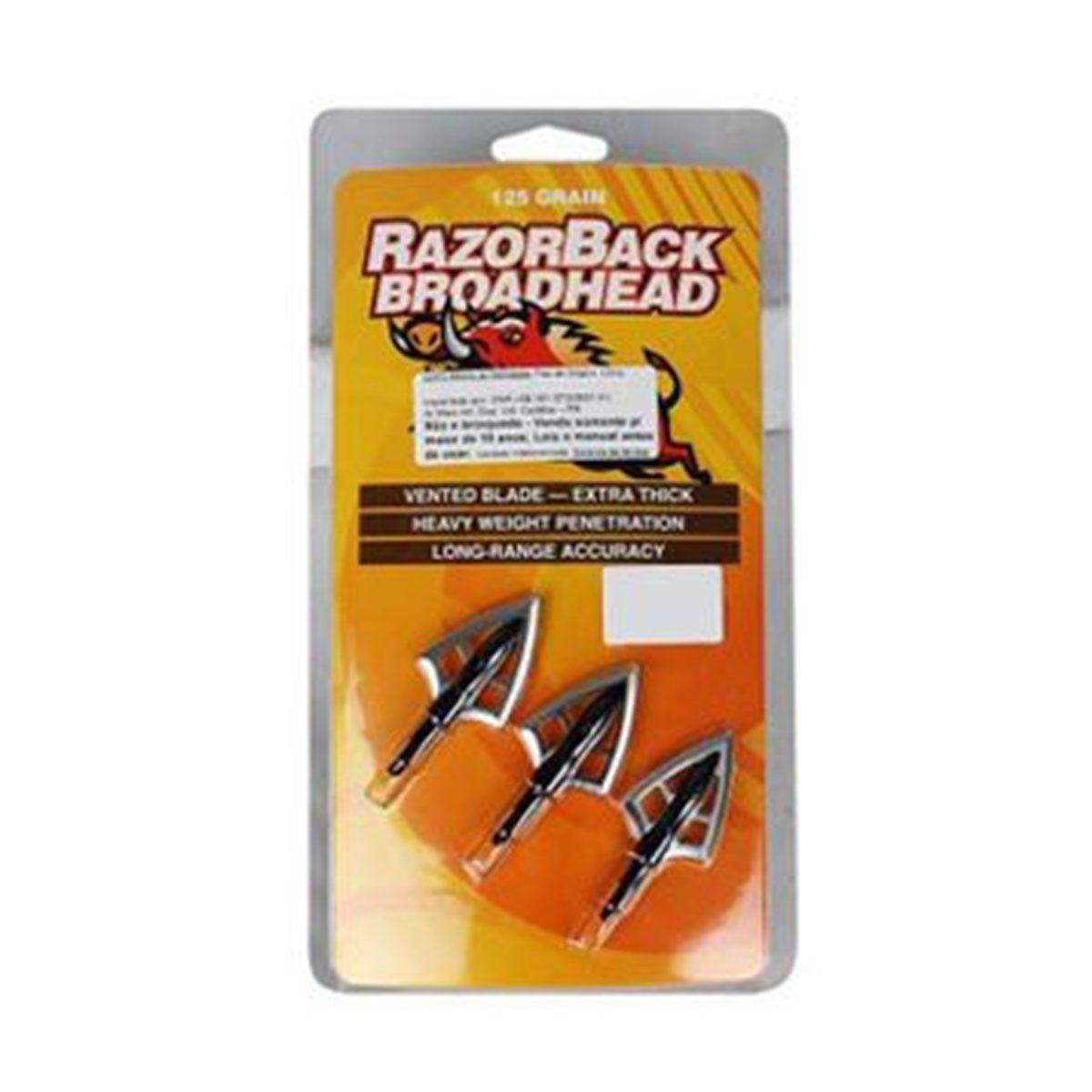 Kit 3 Ponteiras para Flecha RazoBack Rosqueável Metal