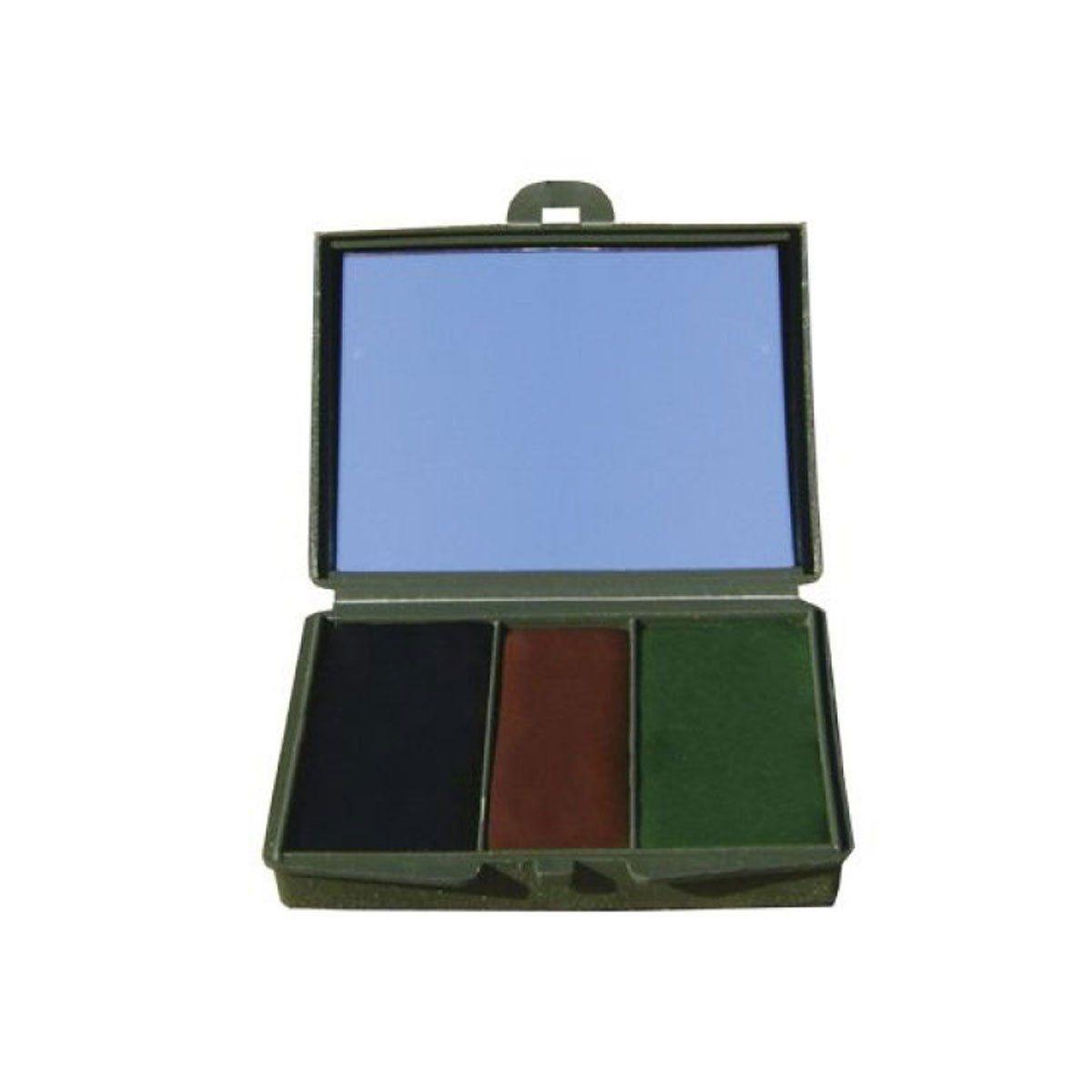 Kit Camuflagem C/ Espelho Verde/Marrom/Preto- VO