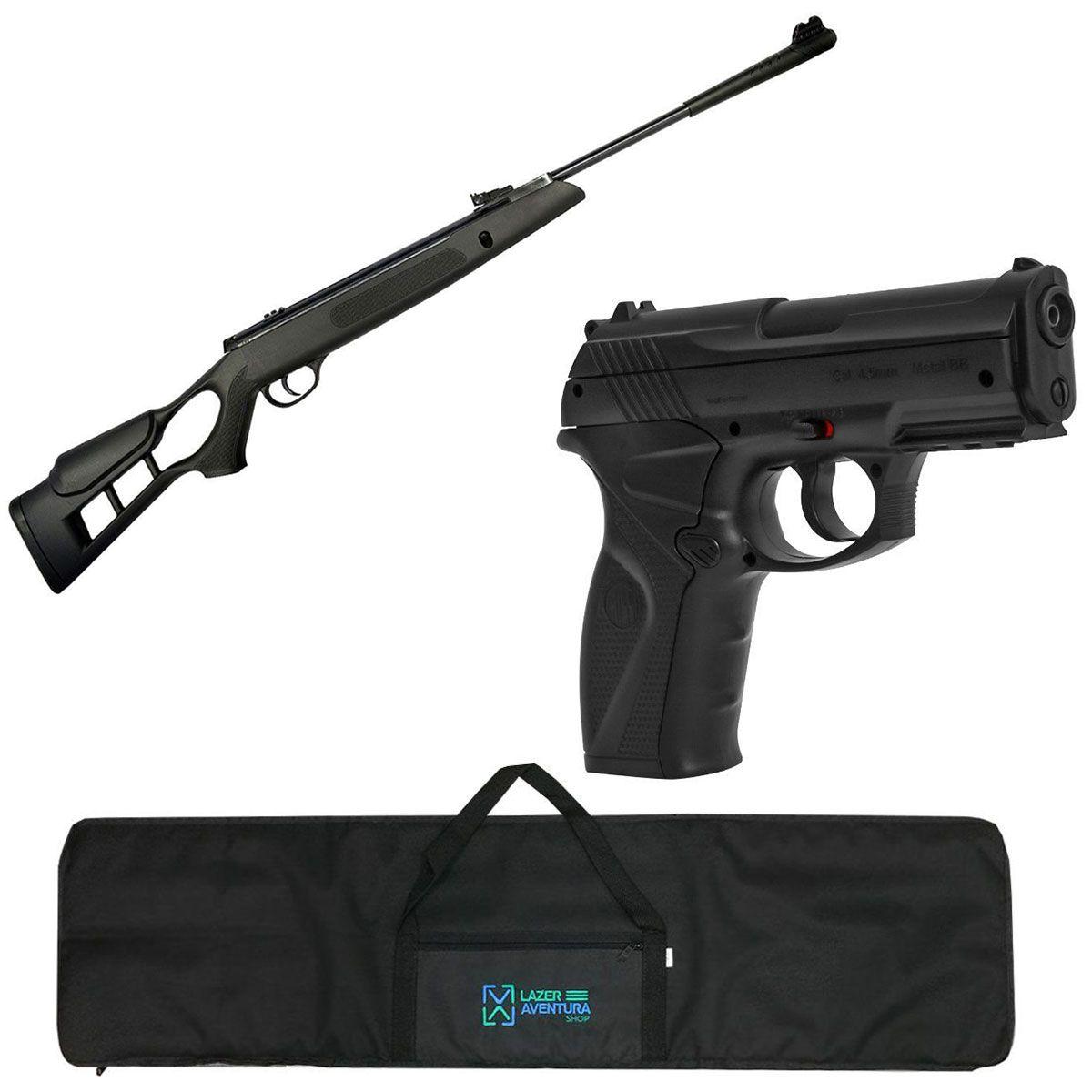 Kit Carabina 5,5mm + Pistola C11 + Capa Lazer e Aventura