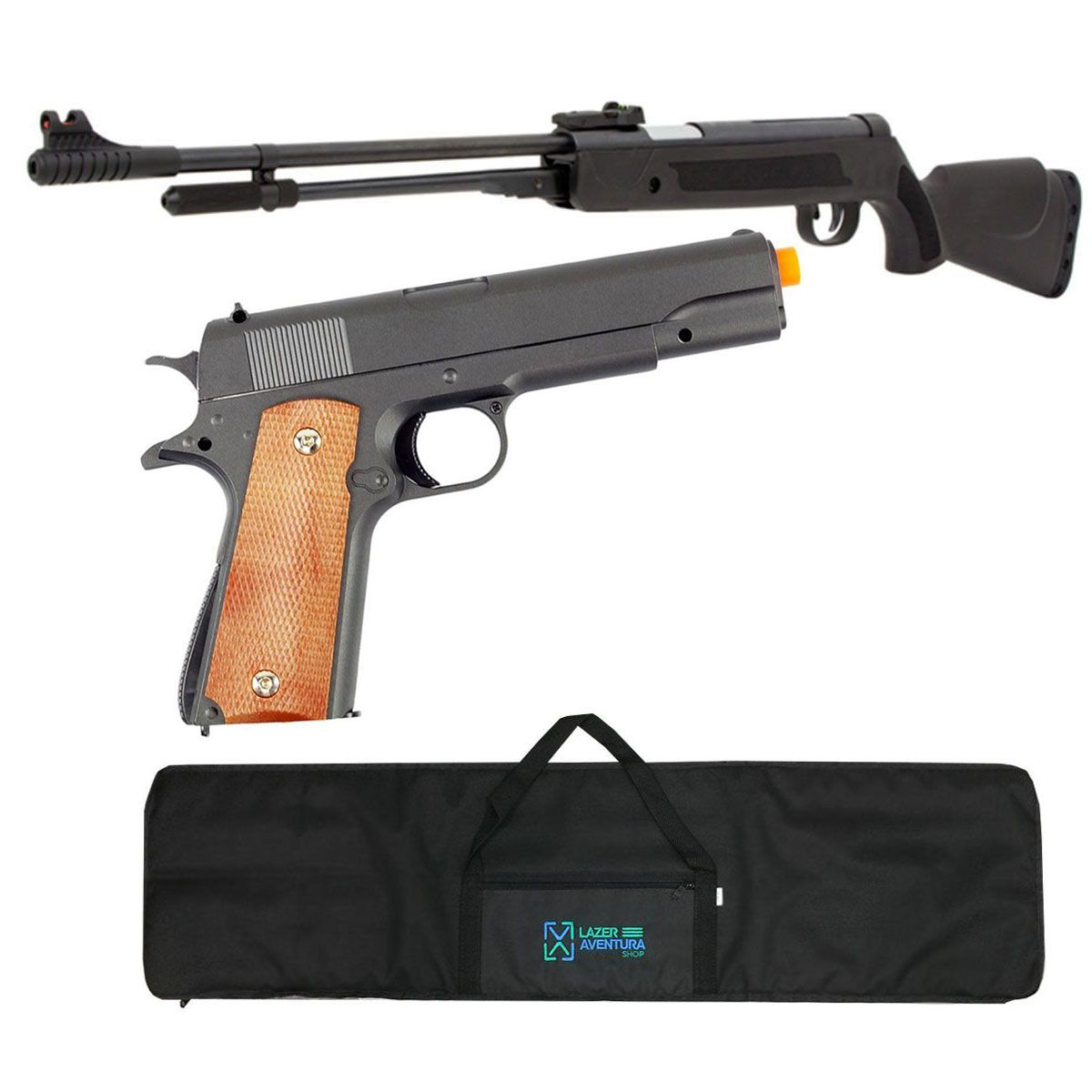 Kit Carabina Fixxar 5,5mm + Pistola G13 + Capa Lazer e Aventura