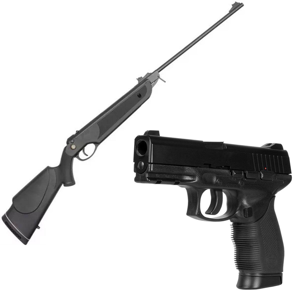 Kit Carabina Nova Dione 5,5mm + Pistola 4,5mm